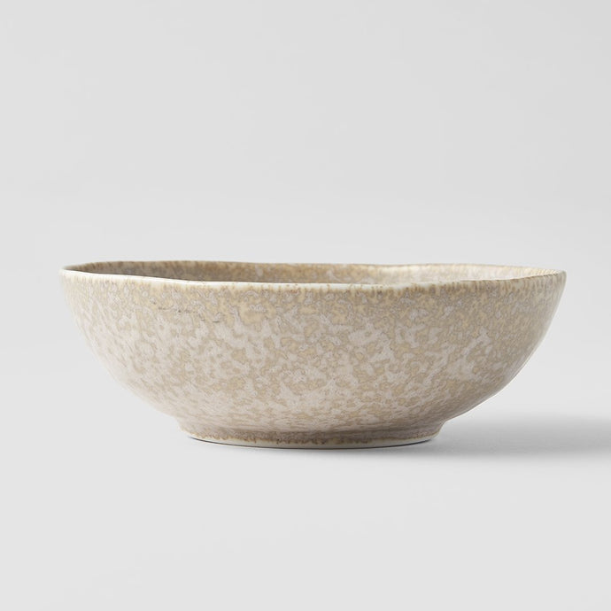 White Fade Medium Oval Bowl 14 x 13cm