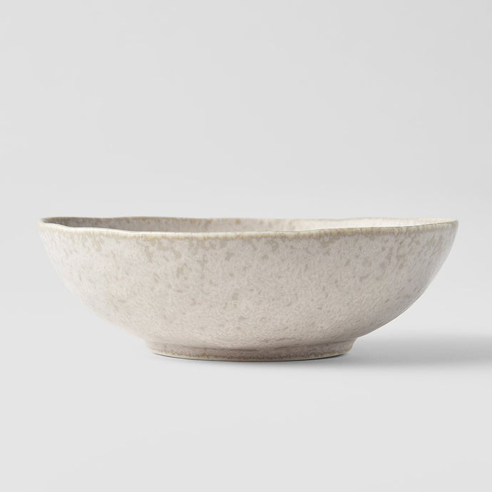 White Fade open Oval Bowl 17 x 15cm