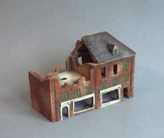 HOV2B5 Pair of three storey brick shops with one detachable roof