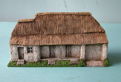 HOV4Z5 Rendered Hospital building with thatched roof
