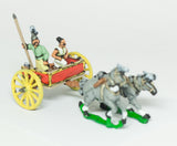 CHO3 Shang or Chou Chinese: Two horse Light Chariot with driver and spearman