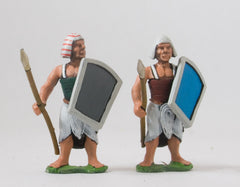 AEG10 Egyptian: Spearman in Banded Armour, head variants