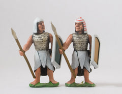 AEG1 Egyptian: Medium Infantry with Spear & Shield, head variants