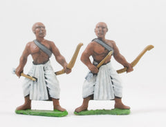AEG2b Egyptian: Light Archer in Long Skirt with Shaven Head, two poses