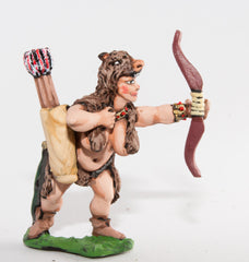 FAN88 Amazon Warriors: Semi-Naked Wolfskin clad Huntress Archer