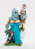 FAN89 Amazon Warriors: Hooded Executioner with Gnome victim, holding Two Handed Sword