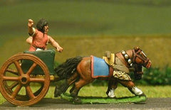 ANK14 Later New Kingdom Egyptian: General & driver in 2 horse chariot