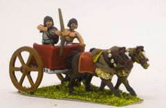ANK16 Later New Kingdom Egyptian: Two horse chariot with archer and driver