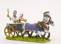 ANK1 New Kingdom Egyptian: Pharoah & driver in two horse chariot
