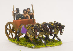 ANK17 Later New Kingdom Egyptian: Four horse chariot with driver, archer and spearman