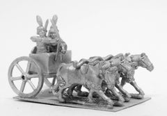 ANK32 Kushite Egyptian: 4 Horse chariot, archer, spearman and driver