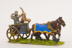 ANK3 New Kingdom Egyptian: Archer & driver in two horse chariot
