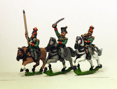 AUO13 Austrian Army 1861-66: Cavalry: Command: Lancer Officer, Standard Bearer & Trumpeter