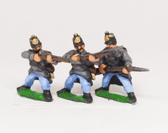 AUO2 Austrian Army 1861-66: Infantry: Hungarian Line Infantry firing, loading etc.