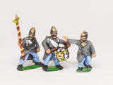 AUO3 Austrian Army 1861-66: Infantry Command: German Officer, Standard Bearer & Drummer advancing