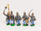AUO5 Austrian Army 1861-66: Infantry Command: German Officers, Standard Bearers & Drummers