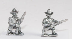 BG110 Union or Confederate: Infantry in Frock Coat & Slouch Hat: in assorted kneeling poses