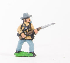 BG18 Union or Confederate: Infantry in Slouch Hat & Tunic with full pack and equipment:At the Ready (fixed bayonet)