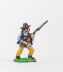 BG23 Union or Confederate: Infantry in Slouch Hat & Tunic with full pack and equipment:Advancing with Musket at 45 degrees (fixed bayonet)