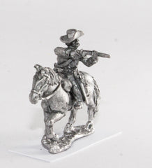 BG53 Union or Confederate: Trooper in Slouch Hat firing carbine to the side