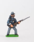 BG4 Union or Confederate: Infantry in Kepi & Tunic with Full Pack & Equipment: At the Ready (fixed bayonet)