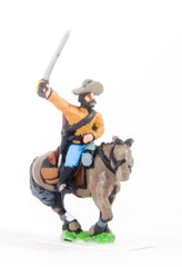 BG61 Union or Confederate: Trooper in Slouch Hat with drawn Sword on charging horses