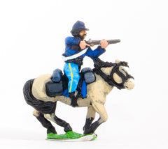 BG62 Union or Confederate: Trooper in Kepi, firing carbine forward on charging horses