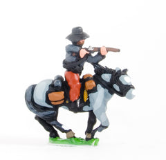 BG63 Union or Confederate: Trooper in Slouch Hat, firing carbine forward  on charging horses
