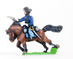 BG65 Union or Confederate: Trooper in Slouch Hat, firing pistol  on charging horses