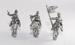 BG76 Confederate: Sussex Light Dragoons: Command: Officer, Standard Bearer & Bugler