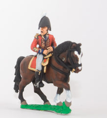 BN12a Mounted Infantry Officer in Bicorne, with horse