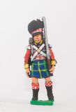 BN18a Highlander: Flank Coy, marching with shouldered Musket