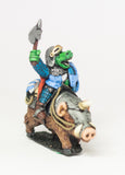 FAN51 Scaley Orc: Cavalry: Orc riding Armoured War Pig / Boar