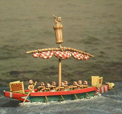 BOAT 3 Middle Eastern Boat with single furled sail, suitable for most Biblical armies.