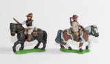 BOW4 Boers: Mounted Infantry, walking horses, assorted poses - single piece castings