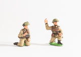 BRIT4 British 1939-45: Command: Officers kneeling