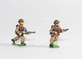 BRIT6 British 1939-45: Three Bren gunners and three second gunners advancing