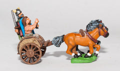 AGB1 Ancient British / Gallic: Two horse Chariot with driver & spearman (assorted crew)