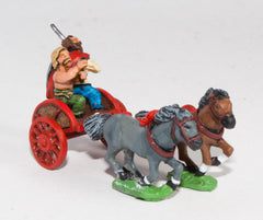 AGB1a Ancient British / Gallic: Two horse Chariot with driver & chieftain