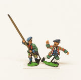 BRO107 European Armies: Command: Lowland or Ecossois Officer and Standard Bearers