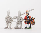 BRO16 European Armies: Grenadier Command: Officer, Standard Bearer & Drummer (English Foot Guards)
