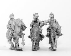 BRO42 European Armies: Command: Mounted Grenadier Officer, Standard Bearer & Drummer (French)