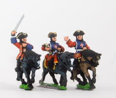 BRO44 European Armies: Command: Mounted Musketeer Officer, Standard Bearer & Trumpeter (French)
