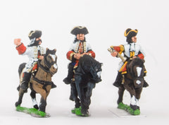 BRO49 European Armies: Command: Line or Guard Cavalry Officer, Standard Bearer & Trumpeter