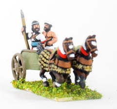BS109 Sea Peoples: 2 Horse Chariot with General & driver