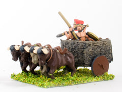 BS119 Sea Peoples: Two wheeled ox cart with two javelinmen