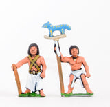 BS19 Old & Middle Kingdom Egyptian: Command: 3 Foot Officers, 3 Standard Bearers
