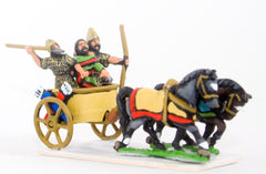 BS30 Syrian chariot with driver, archer and Javelinman