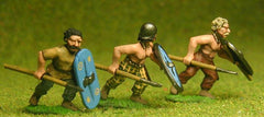 BT10 Assorted Javelinmen / Spearmen attacking, with Large Shields