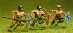 BT11 Assorted Javelinmen / Spearmen attacking, with Large Shields